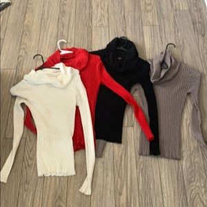 Cal neck stretch sweaters